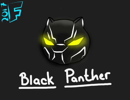 Black Panther Headshot Doodle