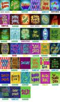 Spongebob Season 9 scorecard (incomplete)