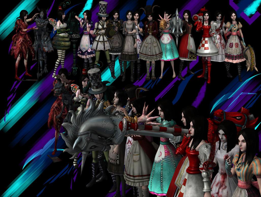 Alice Madness Returns Dresses Anime Alice madness returns all