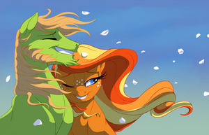 Apple parents-Into that wild blue yonder by Lopoddity