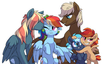 NG: Rainbow Dash's family by Lopoddity