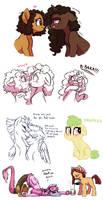 Assorted Pony Doodles