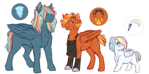 Rainbow Dash Line Redesigned by Lopoddity