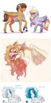 Doodle Dump: Birb Horses