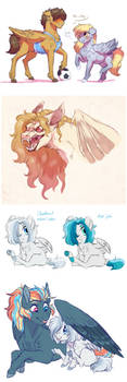 Doodle Dump: Birb Horses by Lopoddity