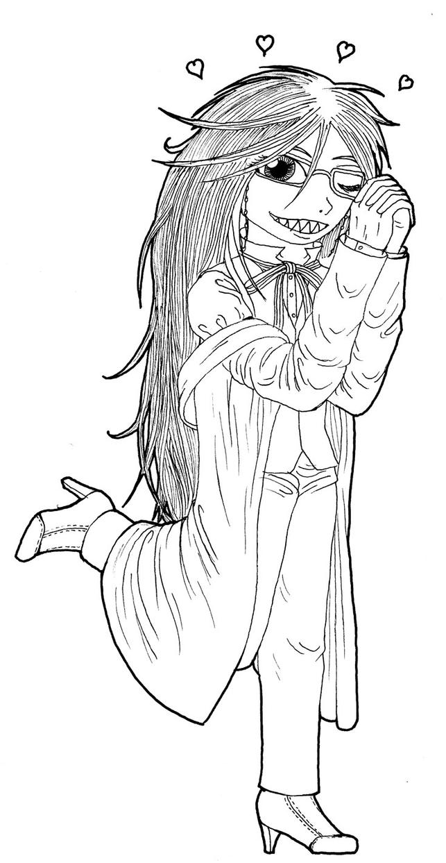 chibi black butler coloring pages