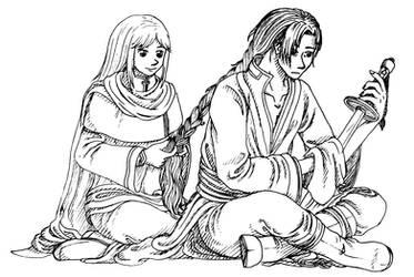 Karel and Lucius - FE7 by Nijichan