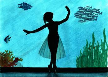 Ballerina at the aquarium