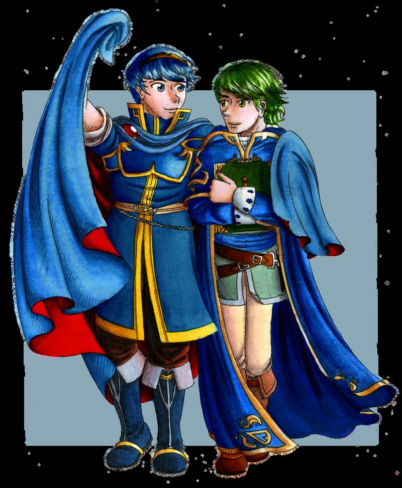 Two boyfriends in the wind - Fire Emblem by Nijichan