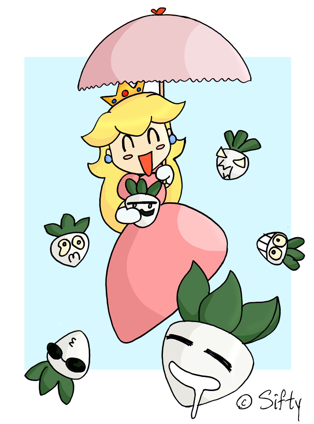 Peach with her crazy turnips by Sifty