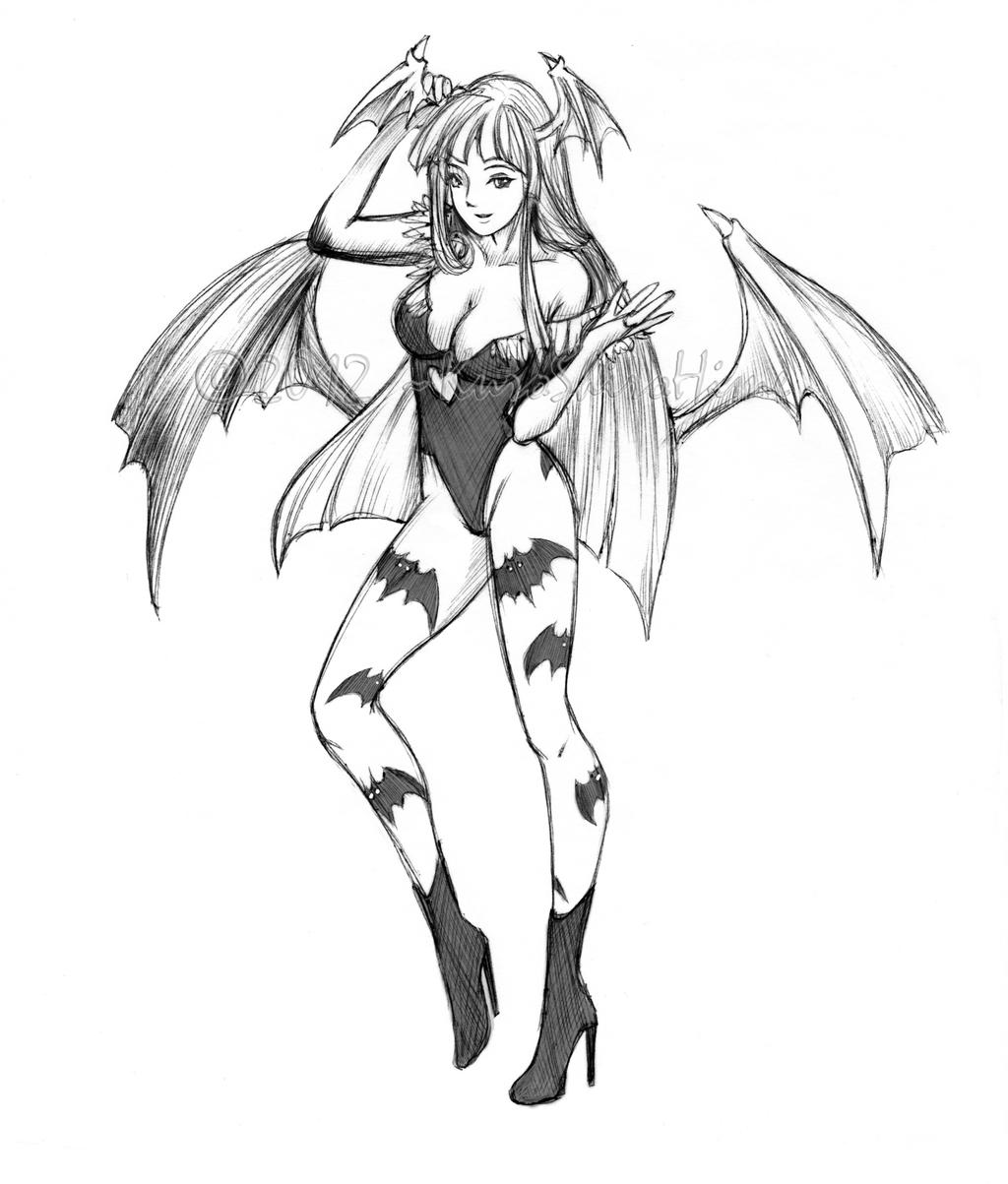 Morrigan Night Warrior Princess by KuroShiroHime