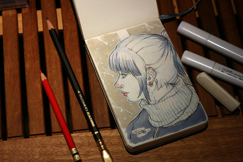 Testing Palomino Blackwing Pencil by Tozani
