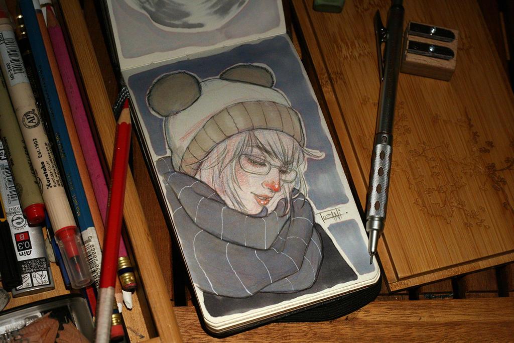 Bear hat sketch by Tozani