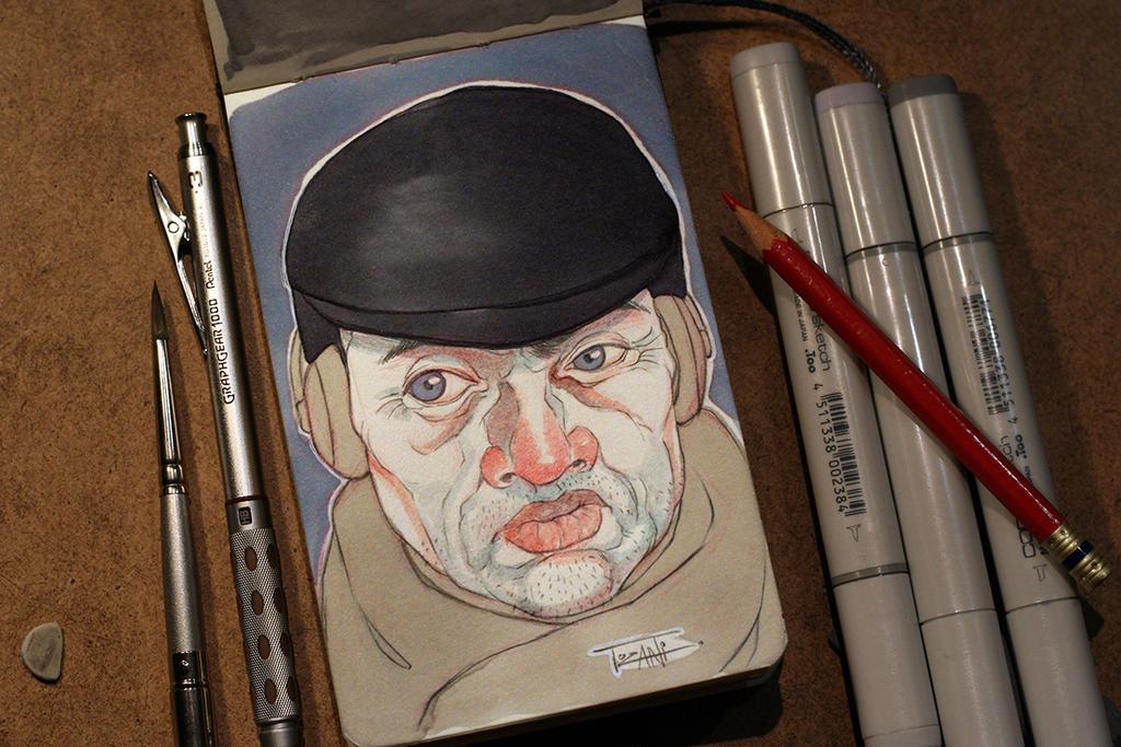 Grumpy old man by Tozani
