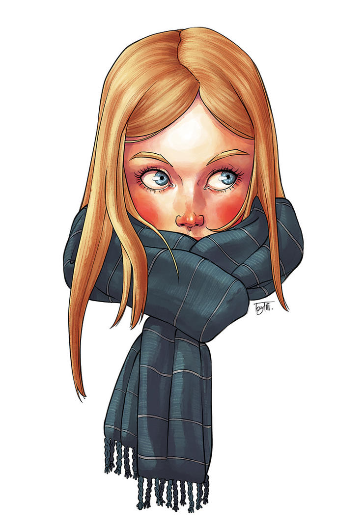 Blonde with Scarf by Tozani