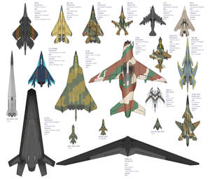 Combat Aircraft of the Ancerious Galaxy