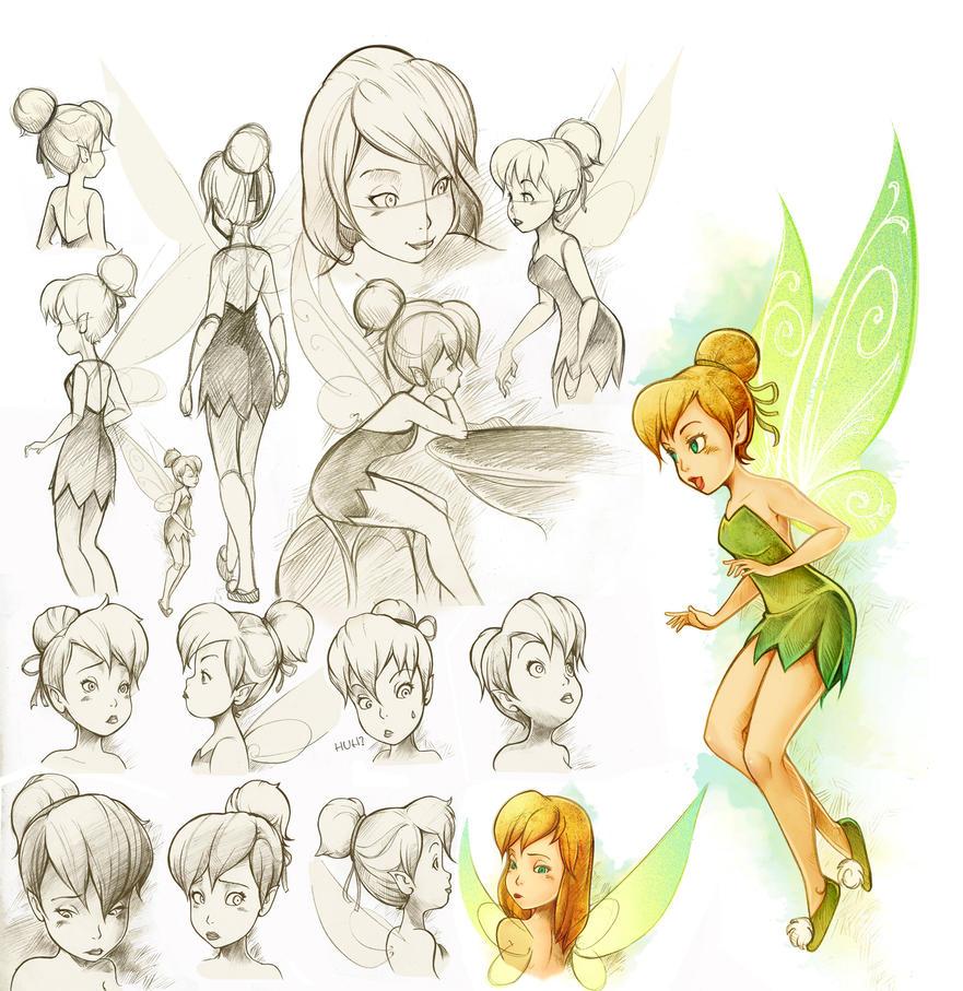 Disney Character Design Study : Tinker bell study by infinitywork on deviantart