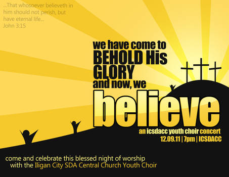 Believe: A ICSDACC YC Concert