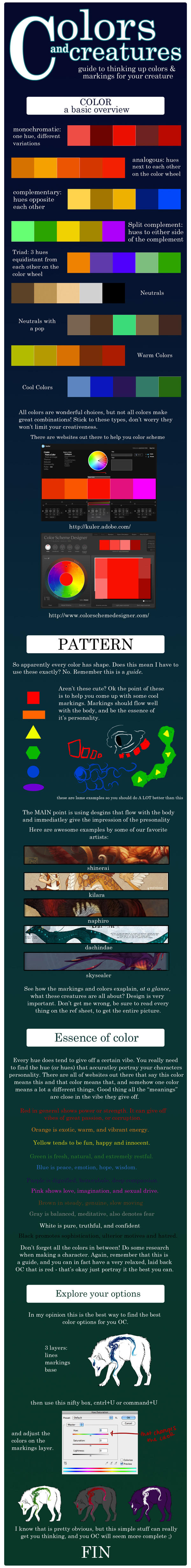 Guide to Colors and Creatures by rice-chex