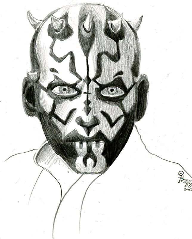 darth maul sketch by bamboleo