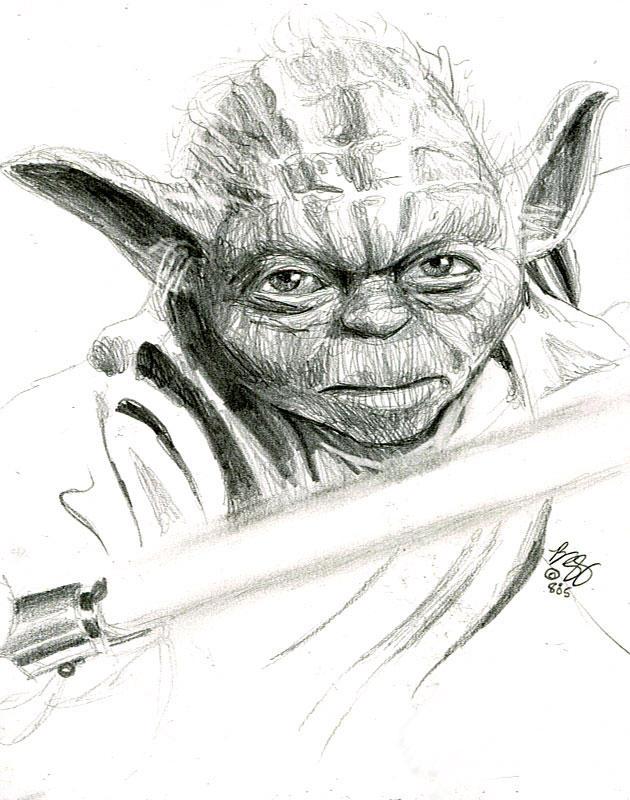 yoda sketch by bamboleo