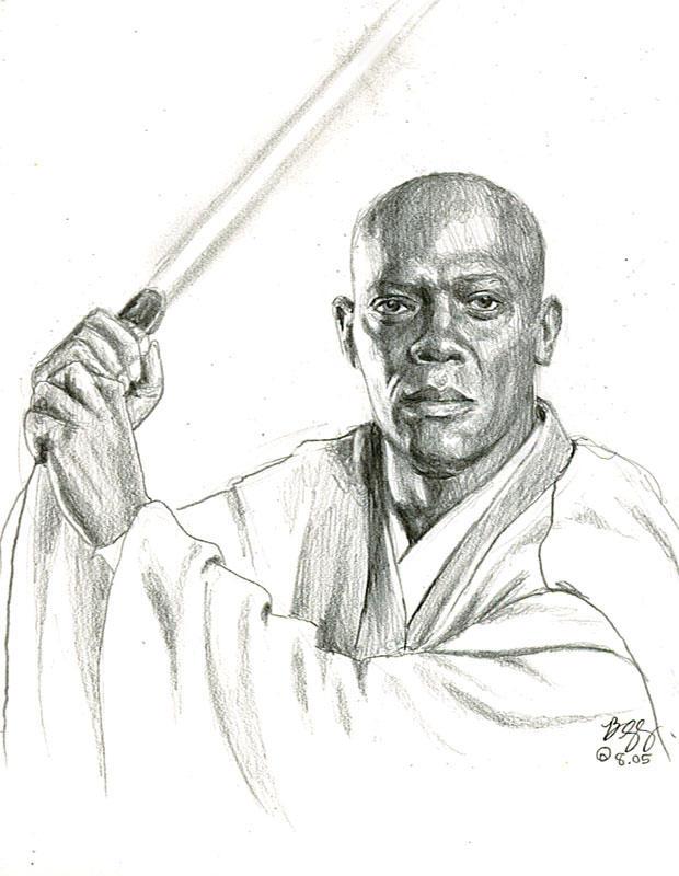 mace windu sketch by bamboleo