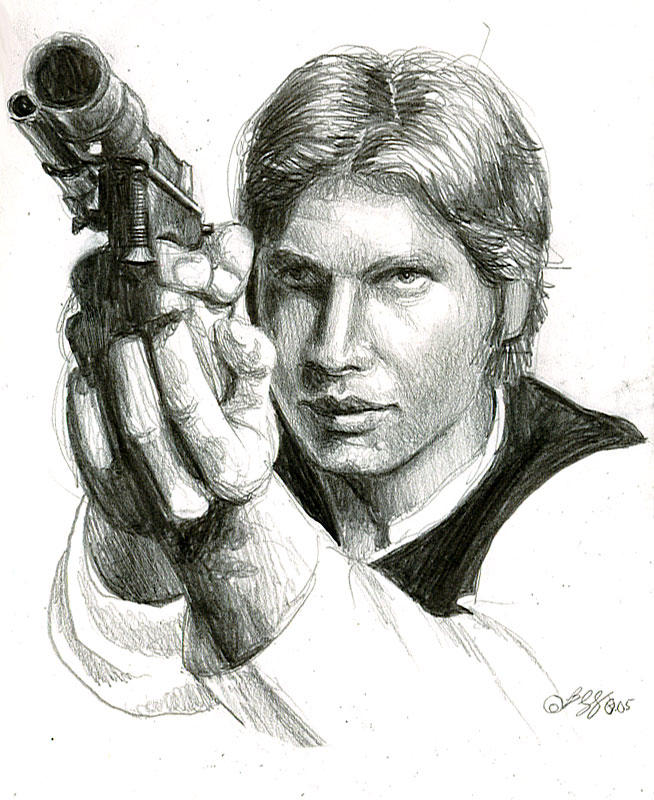 han solo sketch by bamboleo