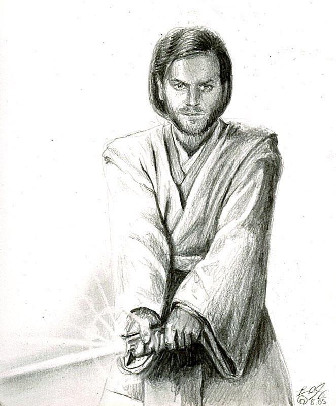 obi wan sketch by bamboleo