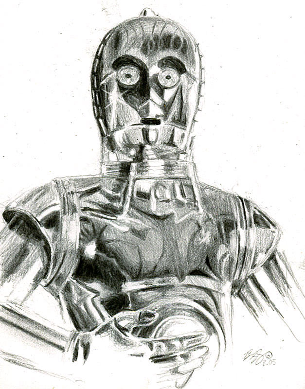 C3P0 sketch by bamboleo