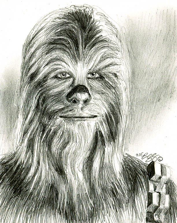 chewbacca sketch..... by bamboleo