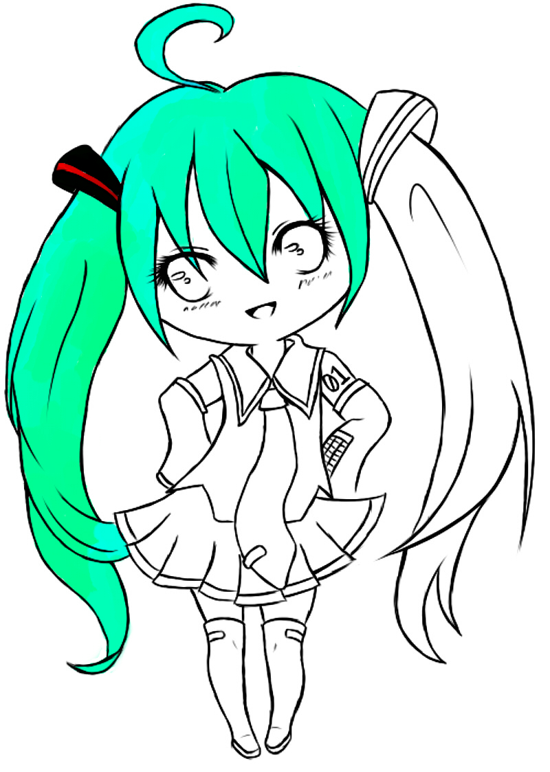 hatsune miku chibi coloring pages - photo#20