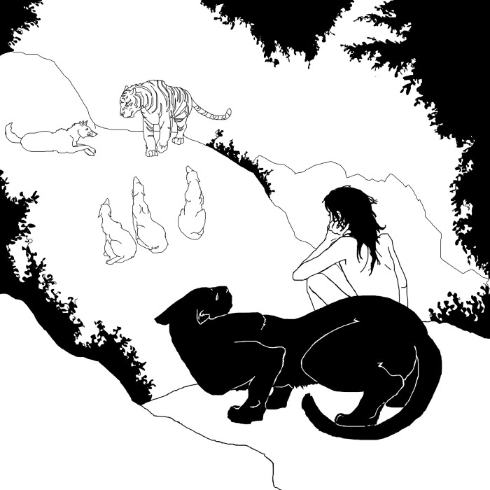 Mowgli's Brothers by NoelDwyer