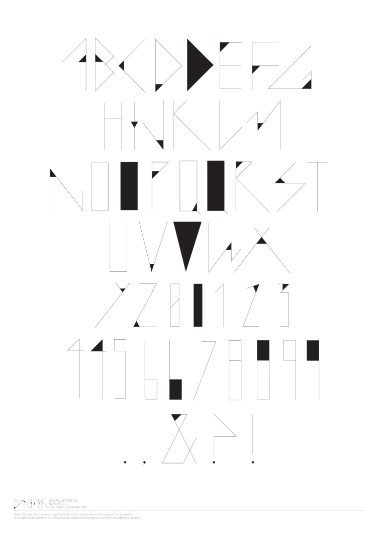 Dynamik Typeface by es-aye-em-em-eye
