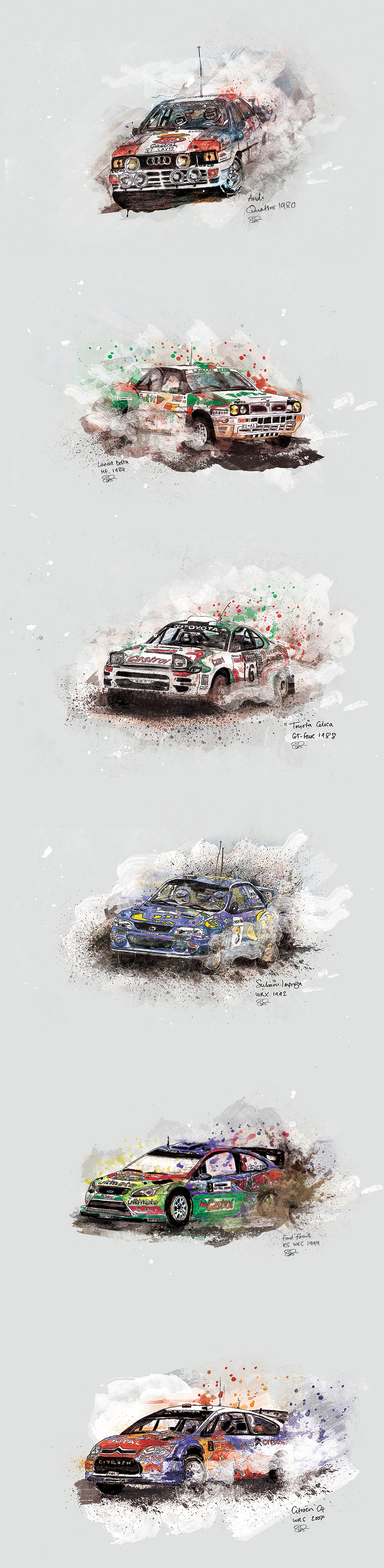 Rally Car Legends by es-aye-em-em-eye
