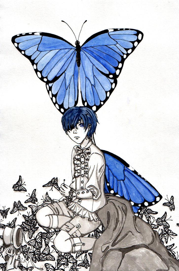 Butterflies Flying Away Drawing