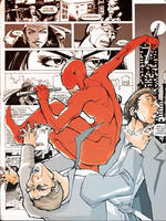 Daredevil battling gangsters 2 by afromation