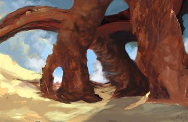 Desert Landscape 1 by afromation