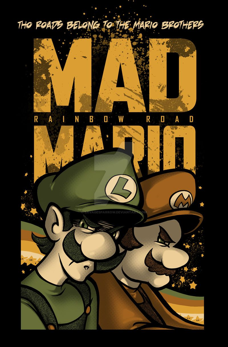 Mad Mario by savagesparrow