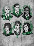 Hogwarts Mystery -  Slytherin sketches