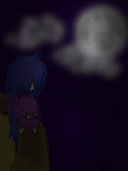 Child and the moon