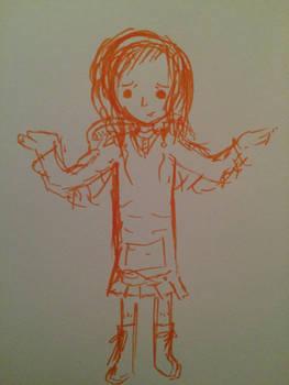 Orange marker doodle