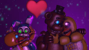 Toy bonnie x Toy chica and Freddy x chica