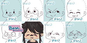 [P2U] Chibi Expressions Base