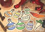 Adventuring Stickers by Elvaneyl