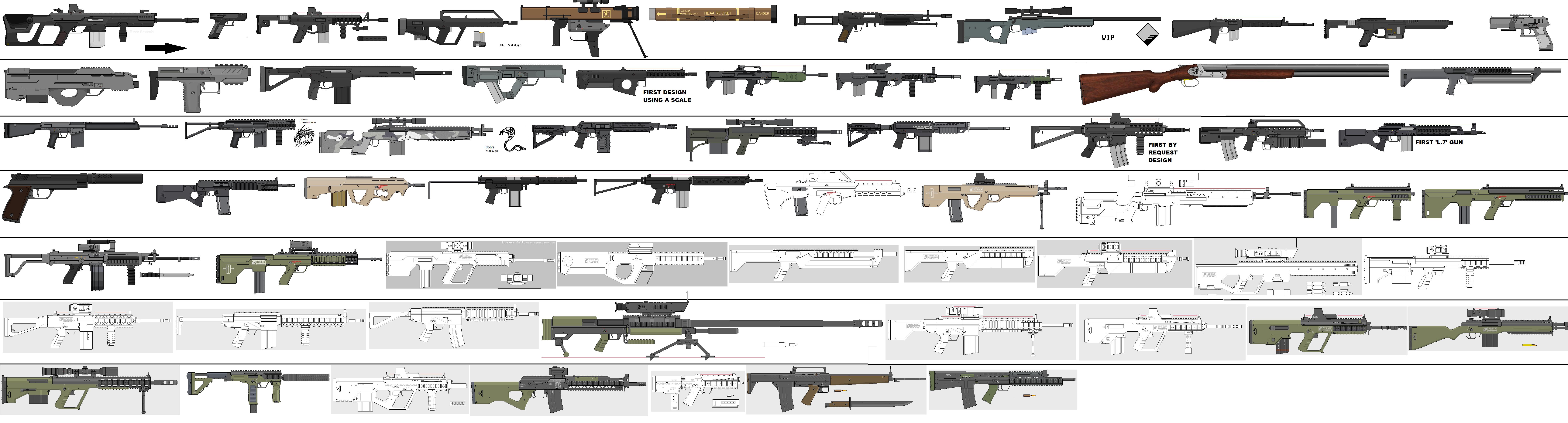 Lineart Timeline Weapons Mb Deviantart