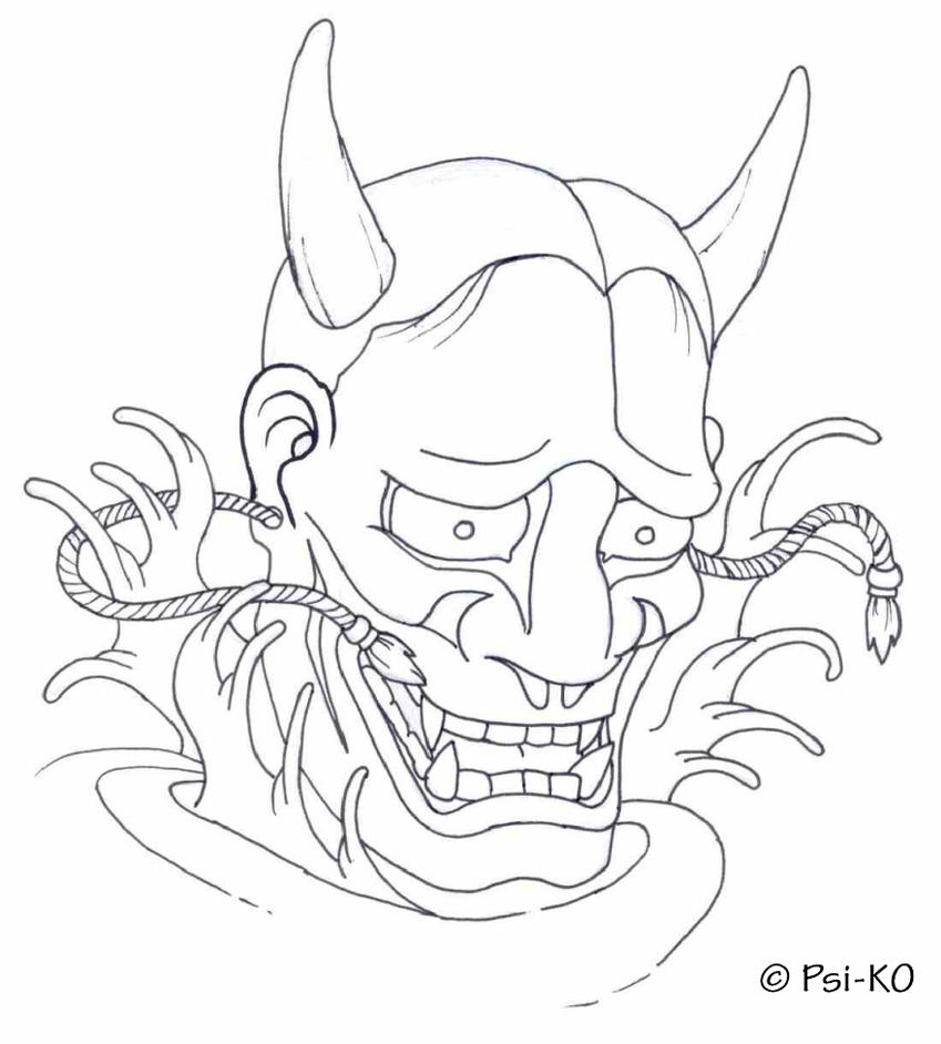 Hannya Mask Version 1 by Psi-KO on DeviantArt