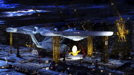 Starfleet Shipyard Earth by JensDD