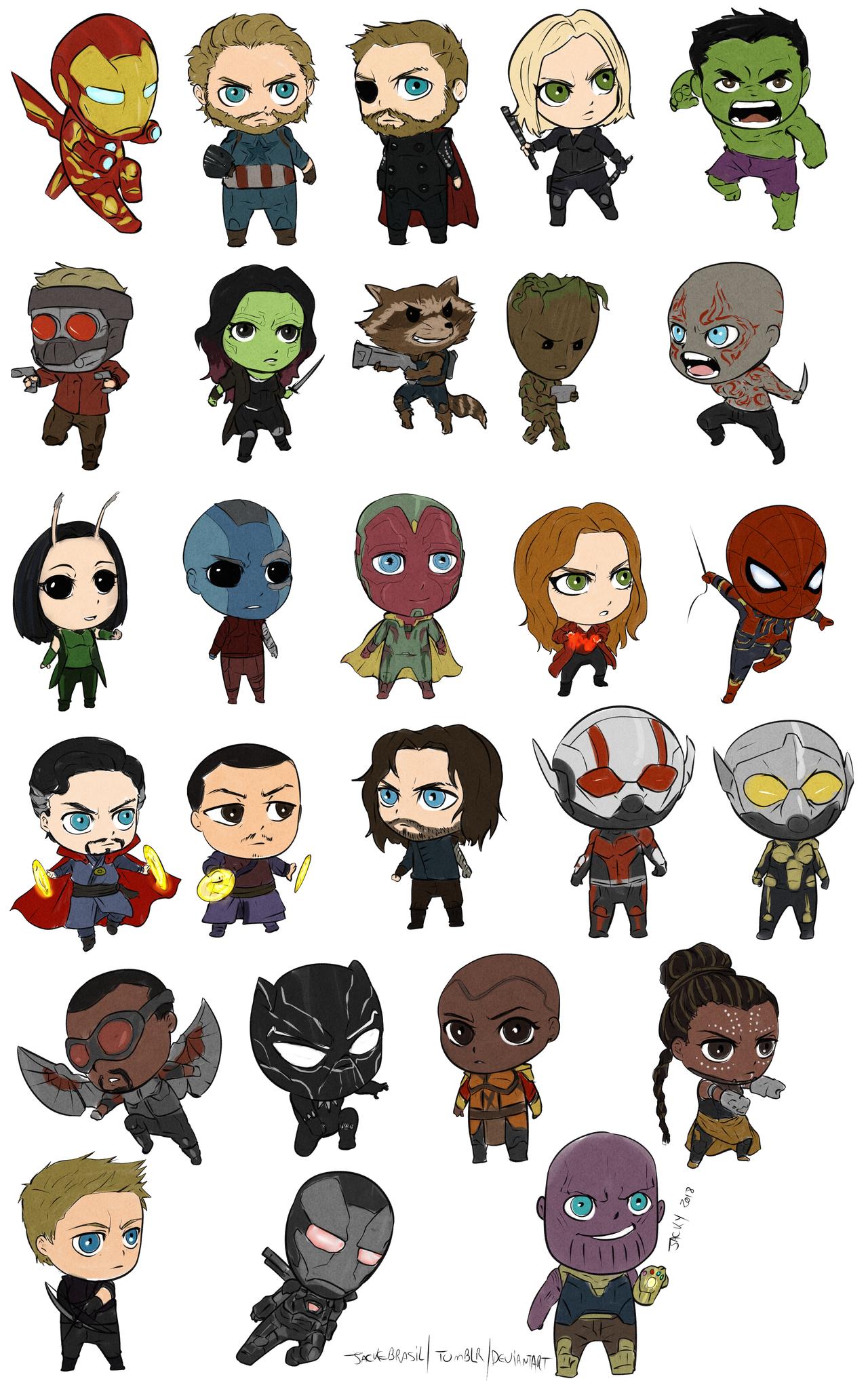 Chibi Avengers by jackebrasil on DeviantArt  Chibi Avengers ...