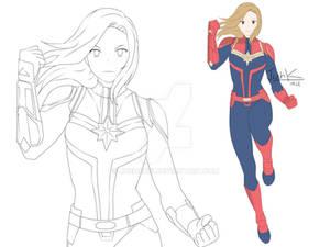Captain Marvel anime