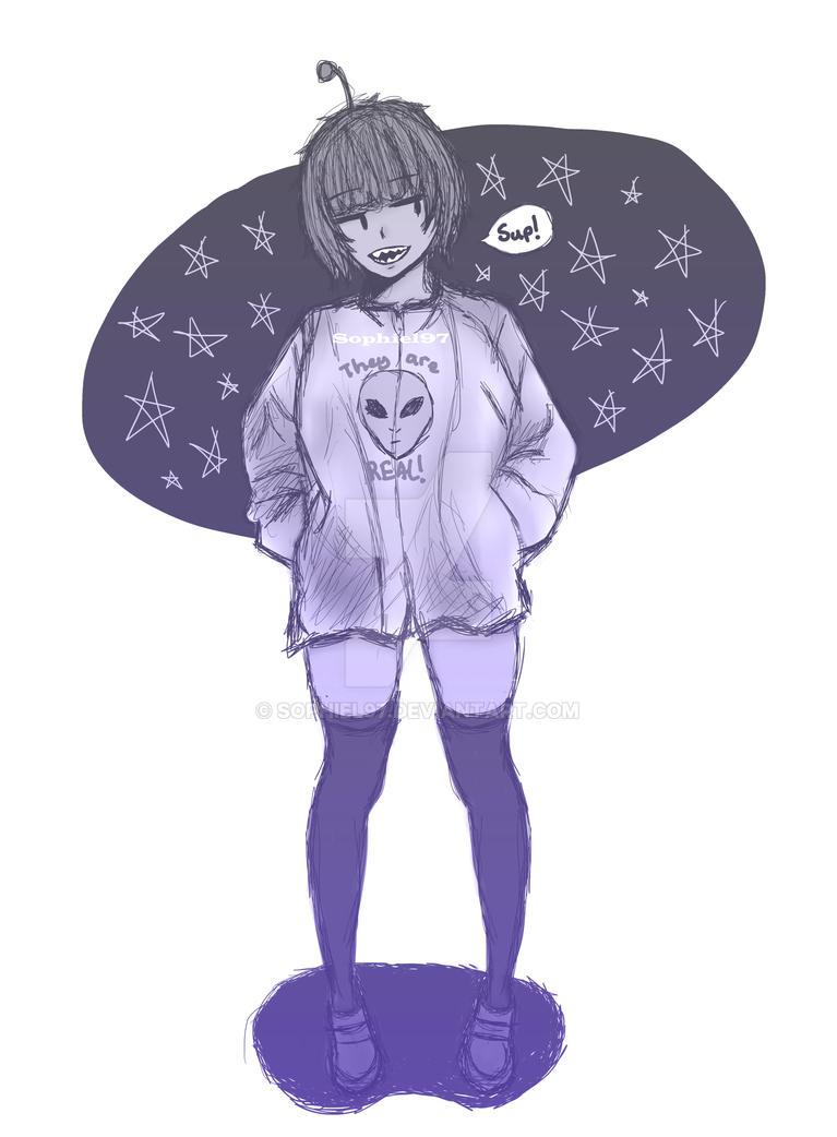 Alien girl by SophieL97